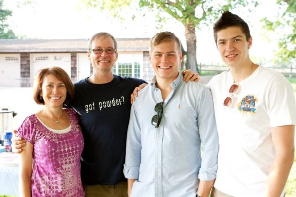 Chris Hodgdon's family, from left: Adele, Chris, Joel, and Pierce